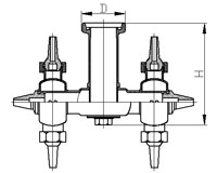 Разбрызгиватель двухголовочный