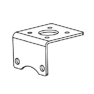 Держатель пневмопривода для шарового крана AISI 304 схема