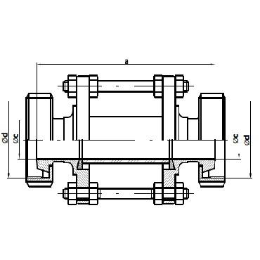 Диоптр трубный конус-гайка/конус-гайка 5159 схема
