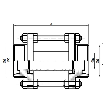Диоптр трубный резьба/резьба 5157 схема
