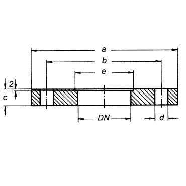 Фланец PN 10 AISI 304/316L схема
