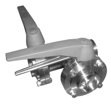 Клапан трехходовой с тремя затворами (центр, слева) ccc