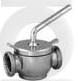 Кран конический AISI 304/316L резьба/резьба