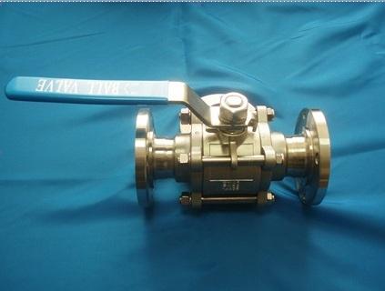 Кран шаровой AISI 304/316L фланец/фланец из трех частей