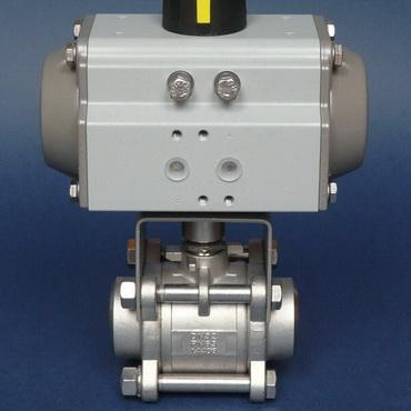Кран шаровой AISI 304/316L сварка/сварка из трех частей с пневмоприводом AT SR 4405