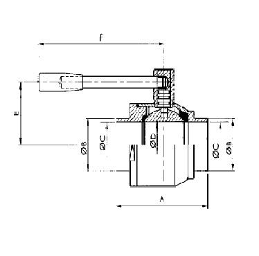 Кран шаровой AISI 304/316L сварка/сварка схема