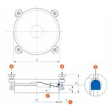 Люк нержавеющий круглый схема 6023