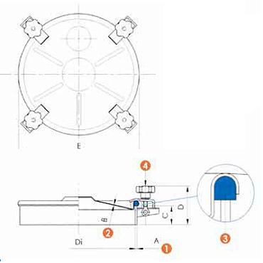 Люк нержавеющий круглый схема 6024