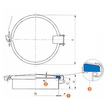 Люк нержавеющий круглый схема 6029A