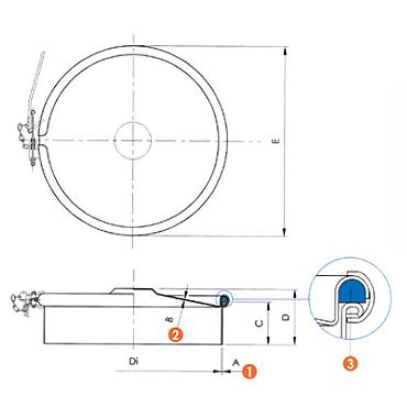 Люк нержавеющий круглый схема 6029R