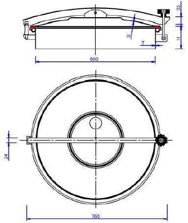 Люк нержавеющий круглый схема C10ECO
