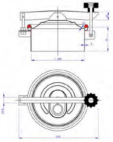 Люк нержавеющий круглый схема C6