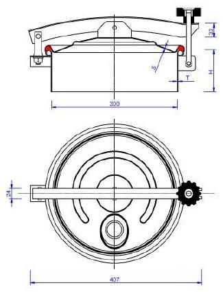 Люк нержавеющий круглый схема C7