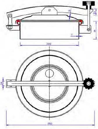 Люк нержавеющий круглый схема C7ECO