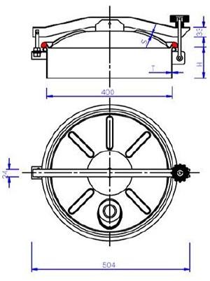 Люк нержавеющий круглый схема C8
