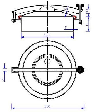 Люк нержавеющий круглый схема C8ECO