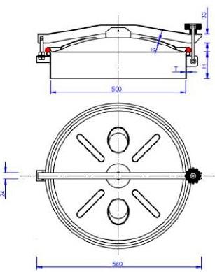 Люк нержавеющий круглый схема C9