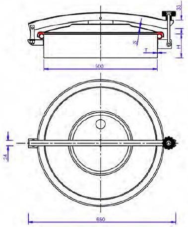 Люк нержавеющий круглый схема C9ECO