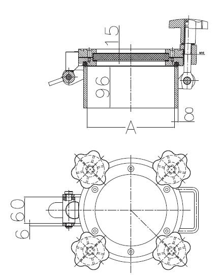 Люк нержавеющий круглый схема D26
