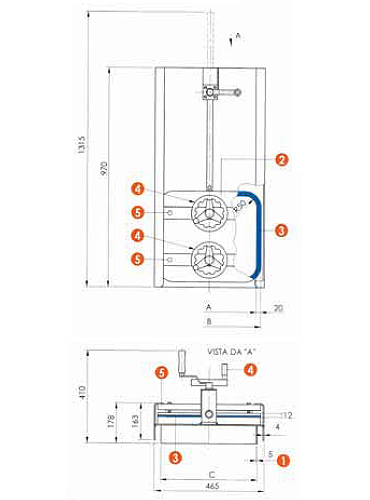 Люк нержавеющий прямоугольный схема L15