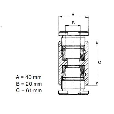 Муфта уровнемера соединительная 5317B схема