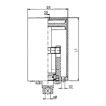 Пневмопривод вертикальный двойного действия воздух/воздух AISI 304 D-A схема