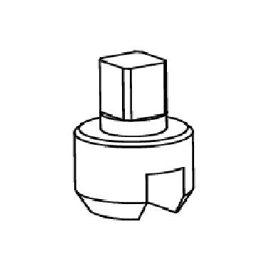 Поводок для пневматического привода 4394 AISI 304 схема