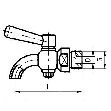 Кран для отбора пробы стандарт 5301 схема