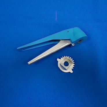 Рычаг ручного управления тип клещевой многопозиционный (нержавейка+пластик)