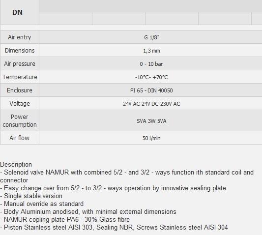 Соленоидный вентиль (клапан) 4430 табл.