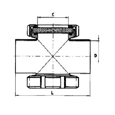 Трубный диоптр сдвоенный сварка/сварка 5153 схема