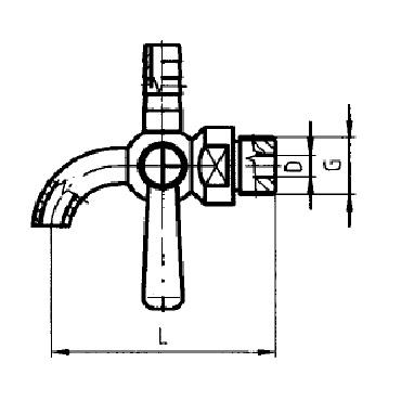 Кран для отбора пробы для уровнемера-шланга 5308 схема