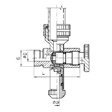 Нижний кран уровнемера 5309А схема