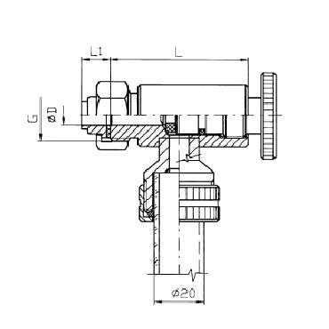 Верхний кран уровнемера 5310B конус/гайка схема