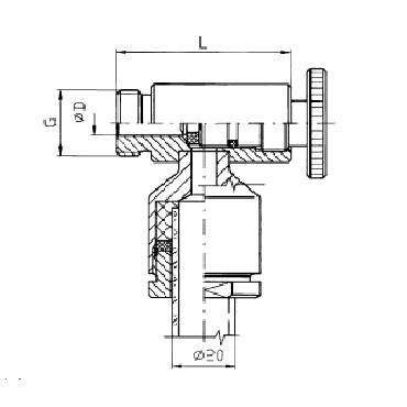 Верхний кран уровнемера 5313A схема