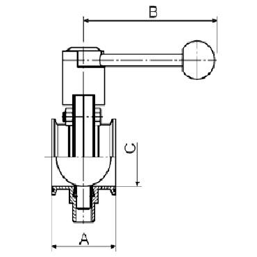 Затвор дисковый кламп/кламп схема