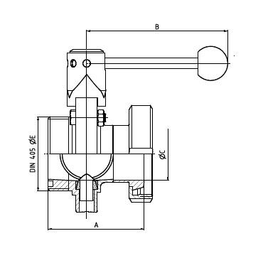Затвор дисковый кг/р схема
