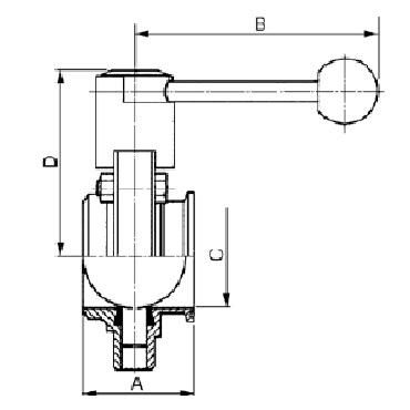 Затвор дисковый сварка/кламп схема