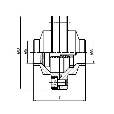 5080D Клапан обратный сварка/сварка схема