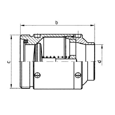 5081A Клапан обратный резьба/сварка схема