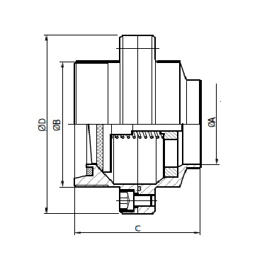 5081D Клапан обратный резьба/сварка схема