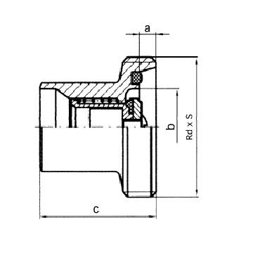 5082B Клапан обратный сварка/резьба схема