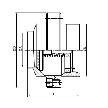 5082D Клапан обратный сварка/резьба схема