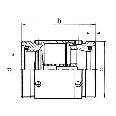 5083A Клапан обратный резьба/резьба схема