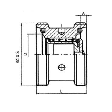 5083B Клапан обратный резьба/резьба схема