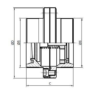 5083D Клапан обратный резьба/резьба схема