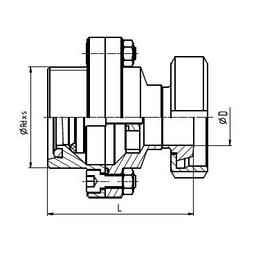 5084D Клапан обратный резьба/конус+гайка схема