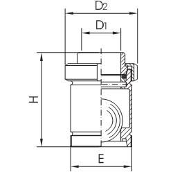 Клапан обратный шариковый резьба/резьба схема