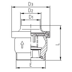 Клапан обратный тарельчатый резьба/сварка схема