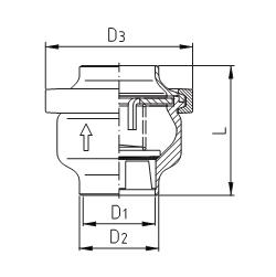 Клапан обратный тарельчатый сварка/сварка схема